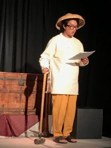 Actor Stephen Torralba explains how the daily work schedule had been for Chinese immigrants who helped build the United States' First Transcontinental Railroad from 1863 to 1869.