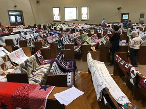 During the Railroad Days festival the Quilts of Valor Quilt Show benefitted veterans.