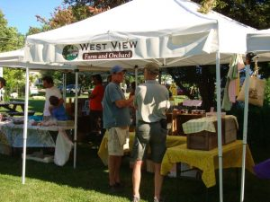 West View tent