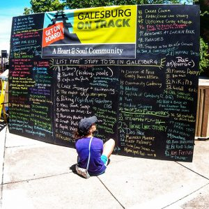 Galesburg's Community Heart & Soul project residents were asked to jot down free things to do in the town