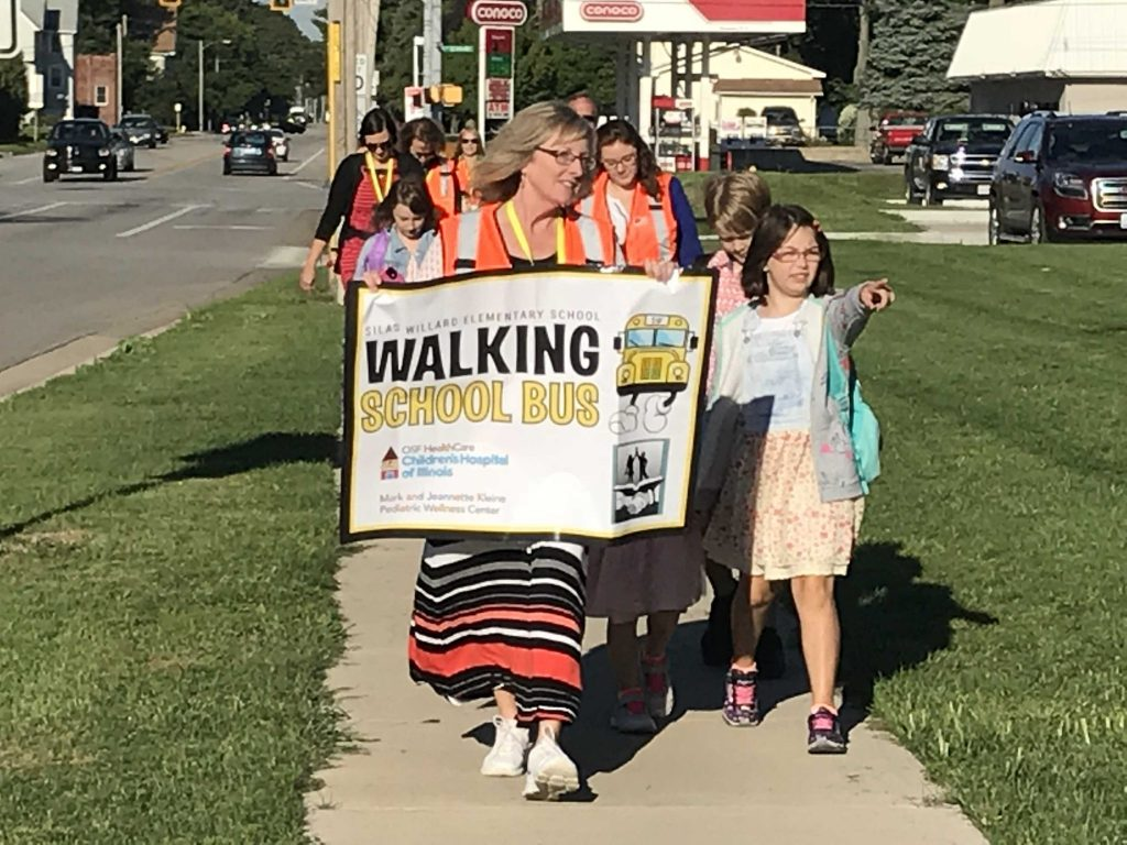 Image for Walking School Bus Offers Active Option for Students