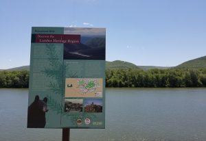 Pennsylvania Humanities Council and Lumber Heritage Sign