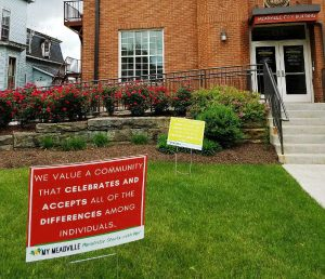 Heart & Soul Statements on yard signs in Meadville, Pennsylvania.