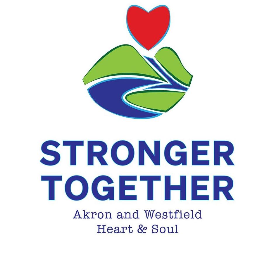 Iowa Akron Westfield stronger together logo