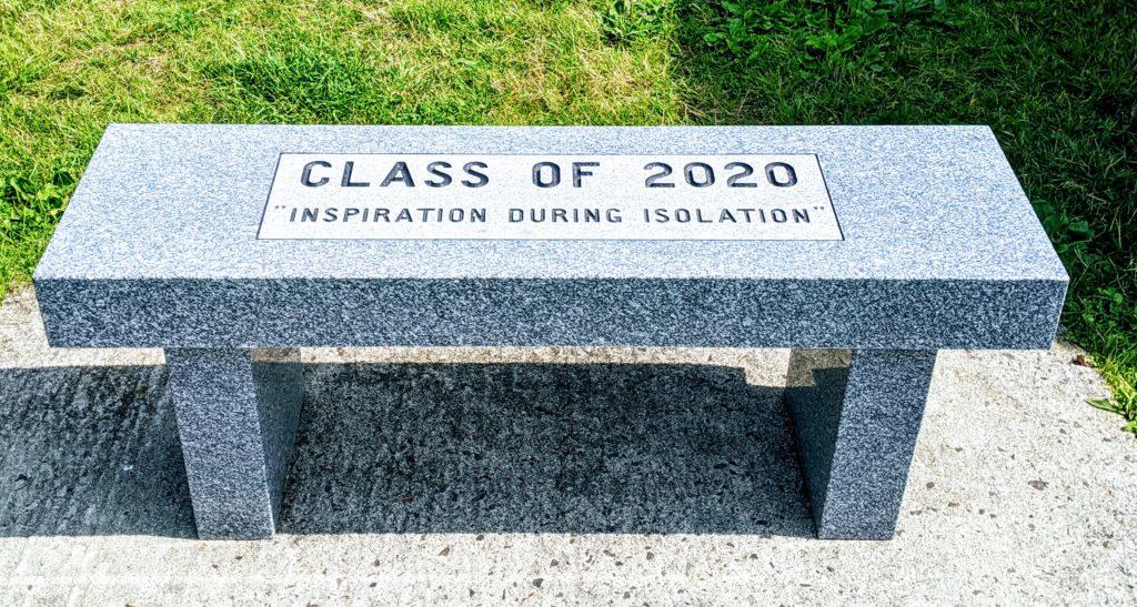 Bucksport Maine stone bench