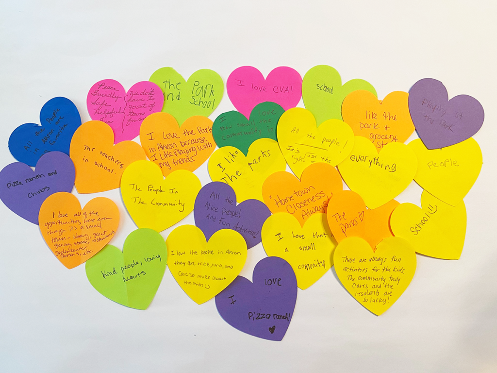 IA Akron Westfield engagement hearts