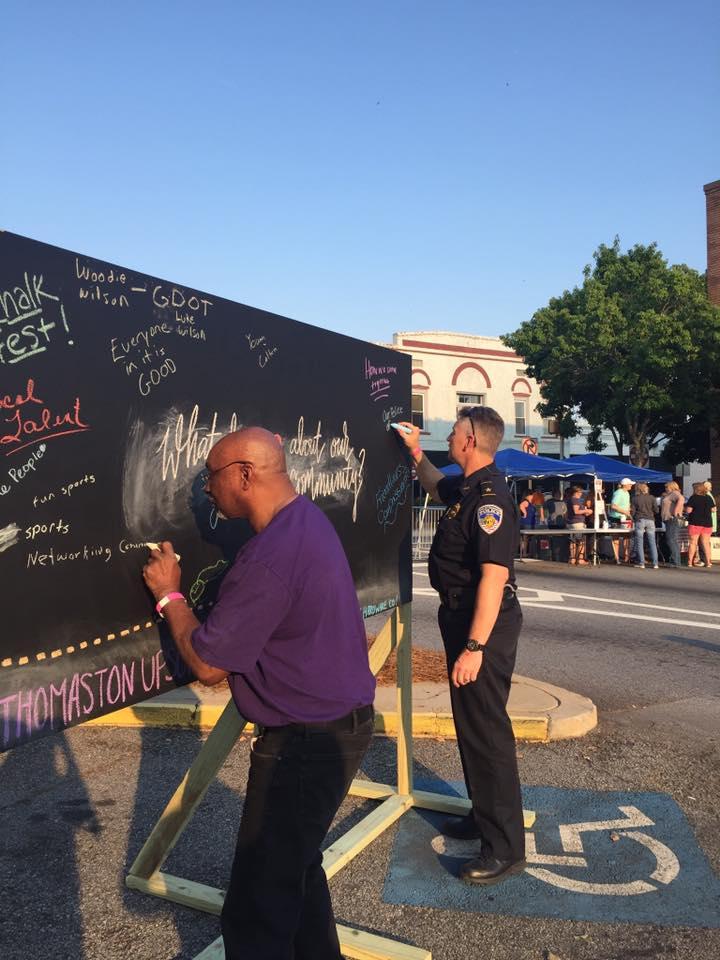 Thomaston Upson Heart & Soul community chalkboard georgia